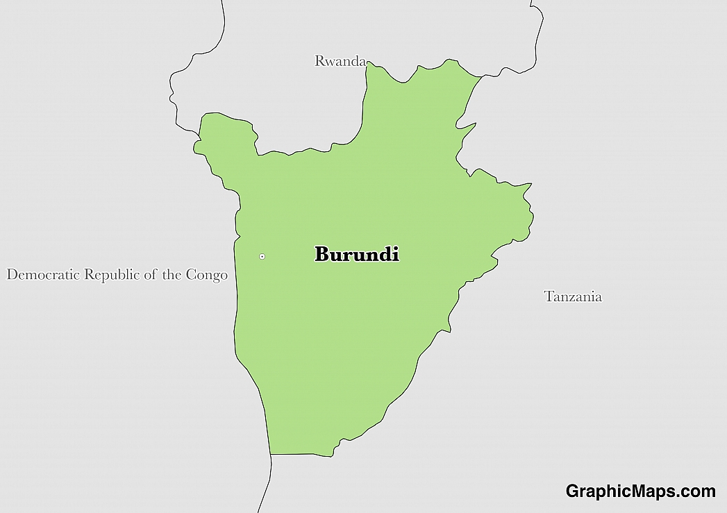 Map showing the location of Burundi