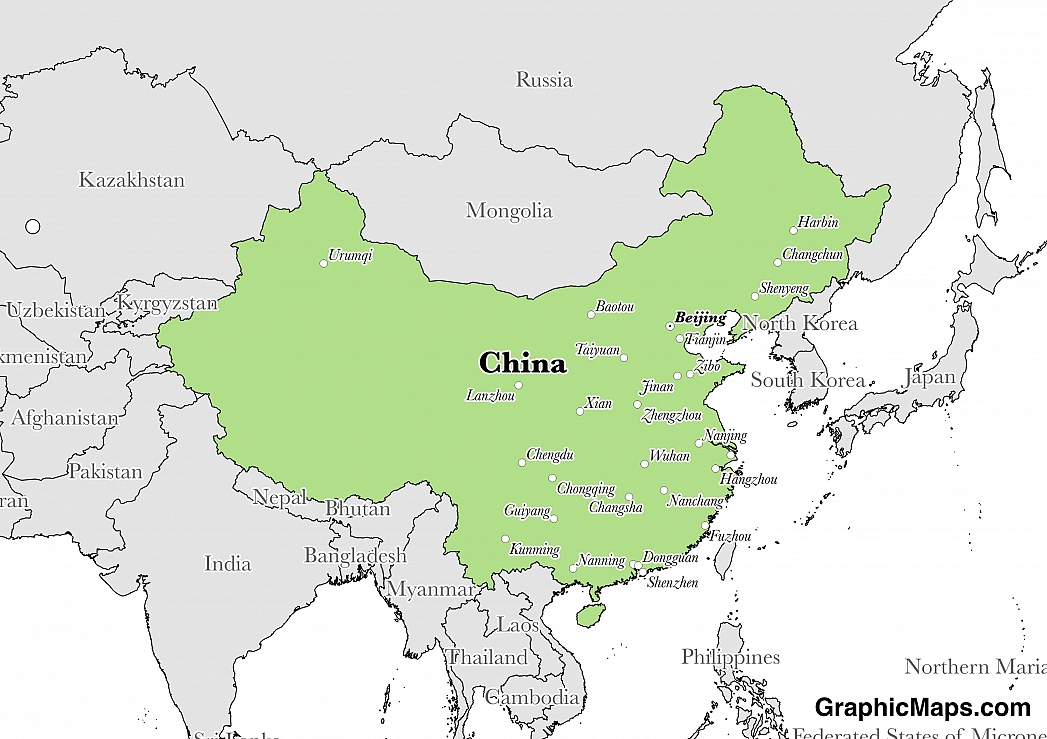 China - GraphicMaps.com on