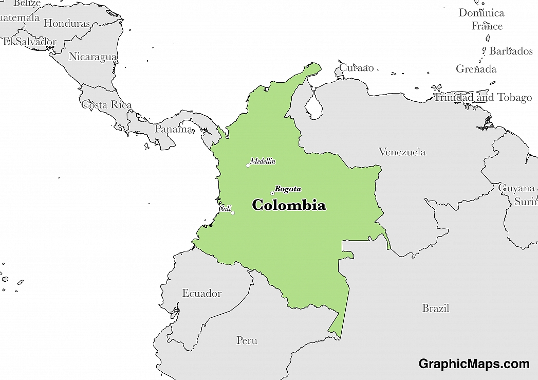 Colombia\'s Government - GraphicMaps.com