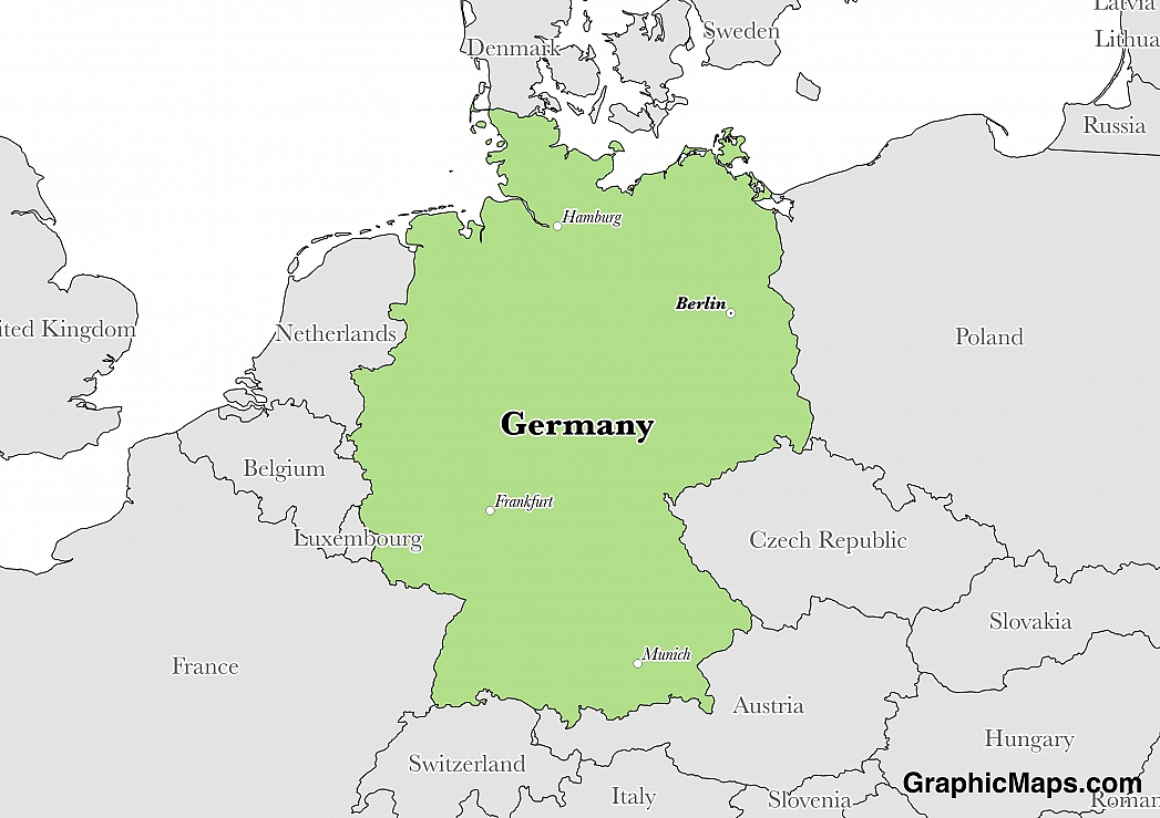 Germanys Languages GraphicMapscom