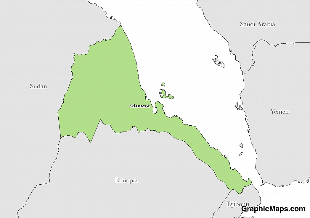 Eritrea GraphicMapscom