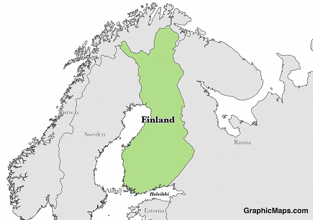Finland - GraphicMaps.com
