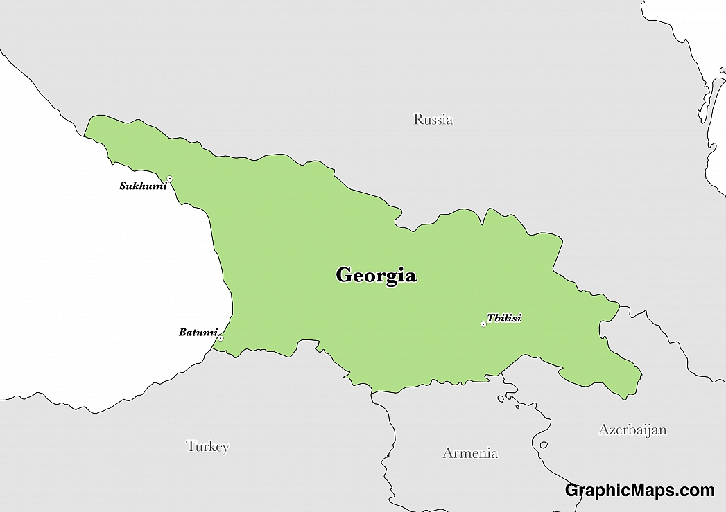 Map showing the location of Georgia