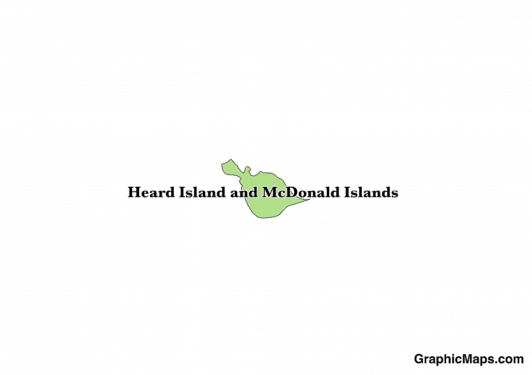Map showing the location of Heard Island and McDonald Islands