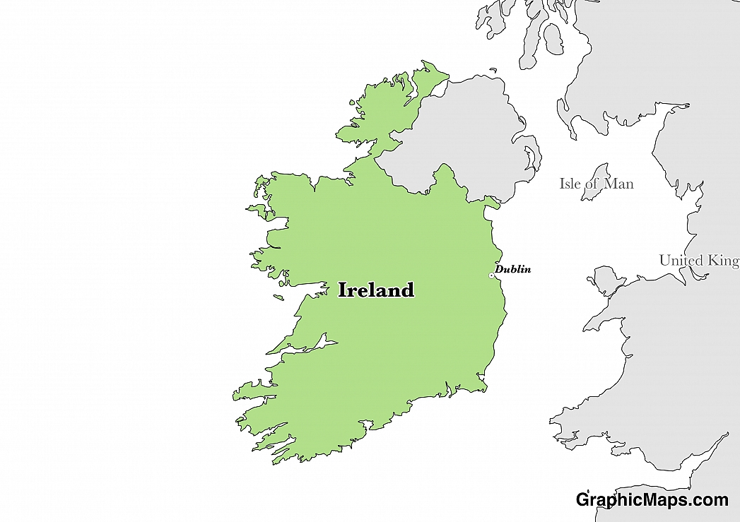 Map Of Dublin 6 Ireland.Ireland Graphicmaps Com
