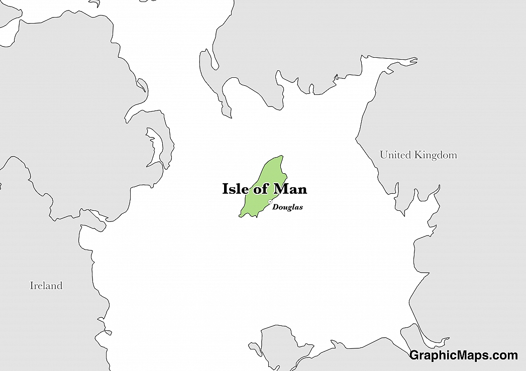 Map showing the location of Isle of Man