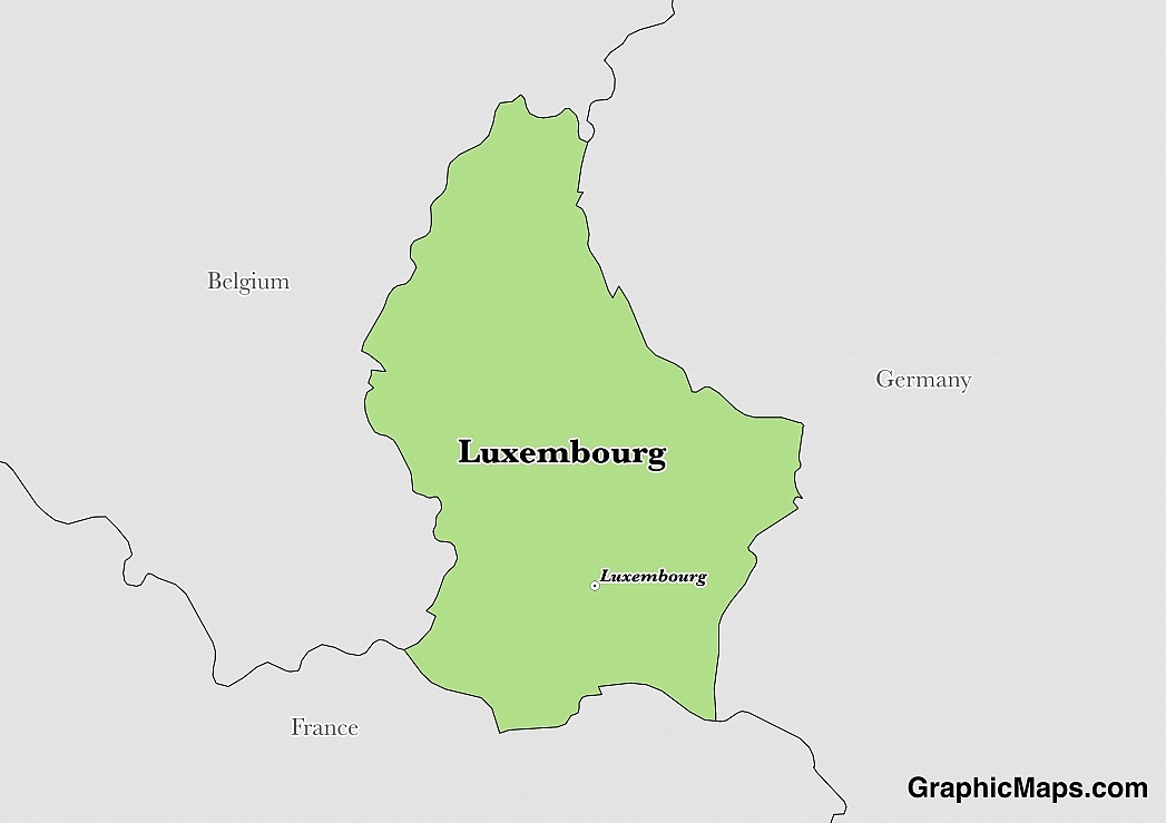 Luxembourg\'s Languages - GraphicMaps.com