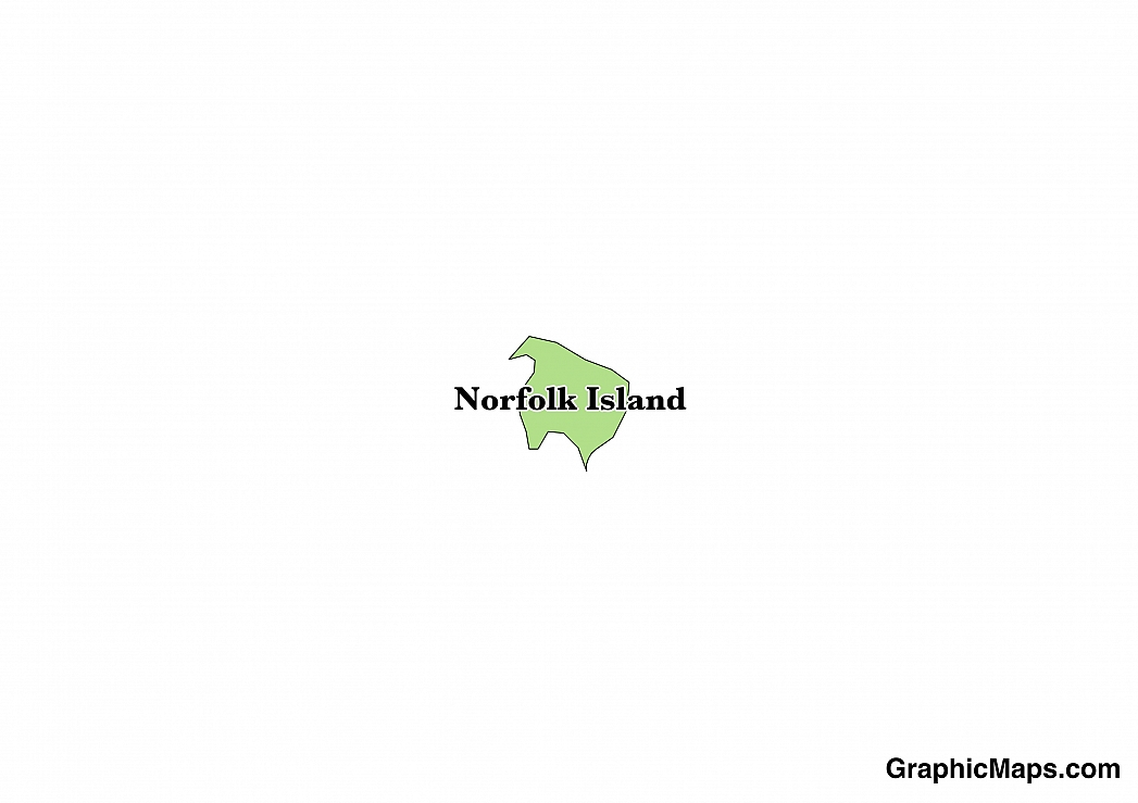 Map showing the location of Norfolk Island