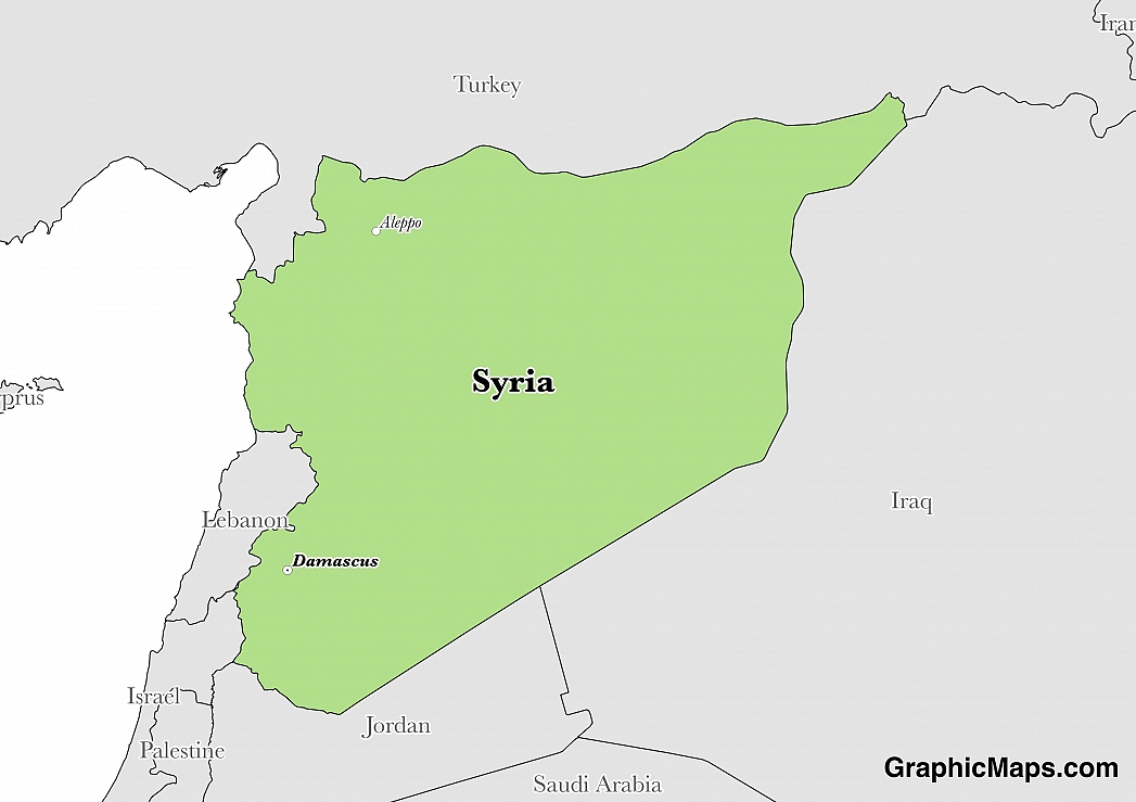 Syria GraphicMapscom