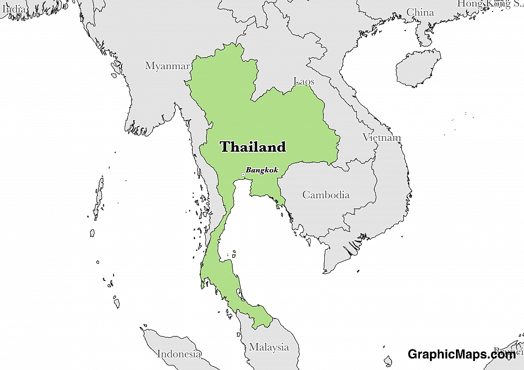 Thailands Languages GraphicMapscom