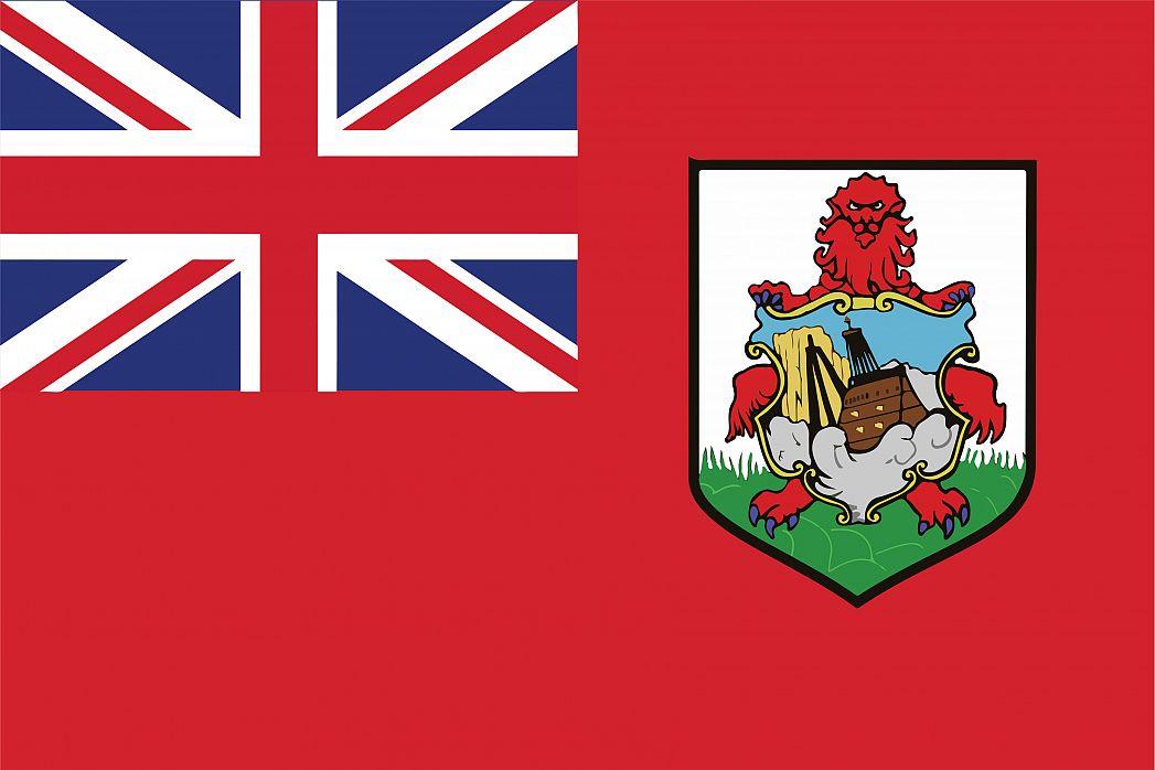 Bermuda's Flag - GraphicMaps.com