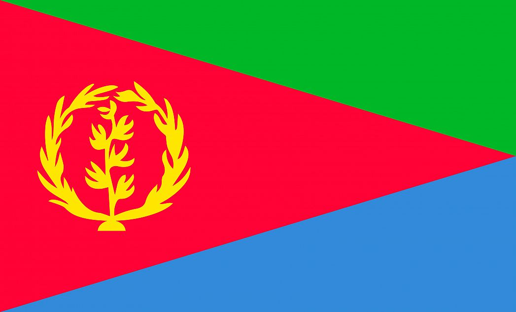 Eritrea's Flag - GraphicMaps.com