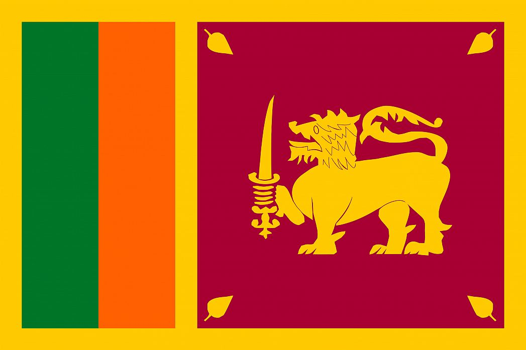 Sri Lanka's Flag - GraphicMaps com