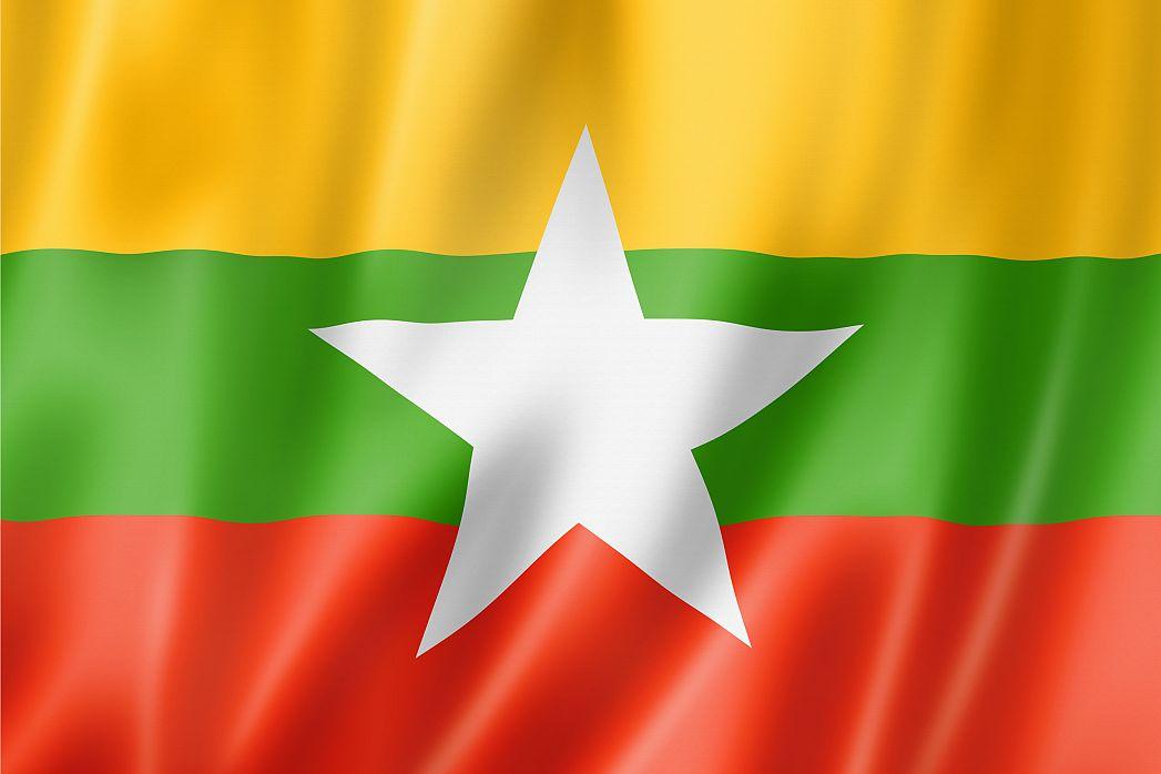 Myanmar S Flag Graphicmaps Com