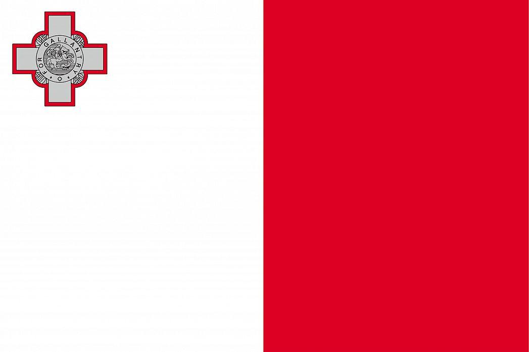 Malta's Flag - GraphicMaps.com