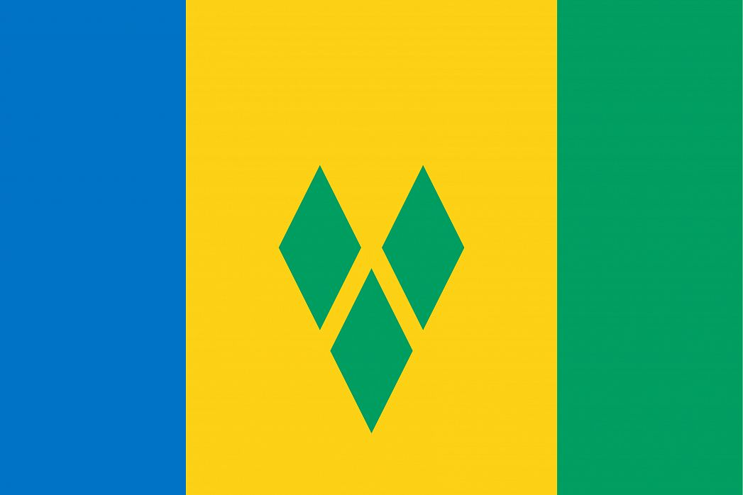Saint Vincent and the Grenadines's Flag - GraphicMaps com